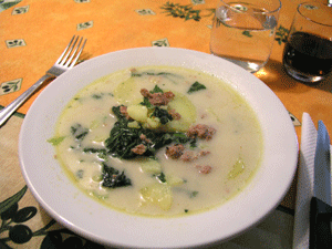 Olive Garden Zuppa Toscana Tuscan Soup Recipe made at the restaurant
